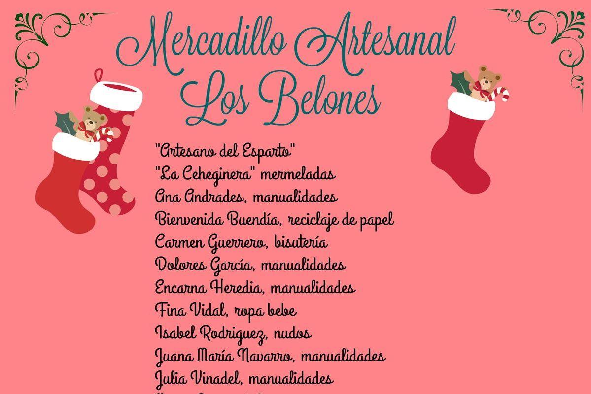 Cartel del Mercadillo Artesanal de Los Belones