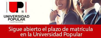 Sigue abierto el plazo de matricula en la Universidad Popular