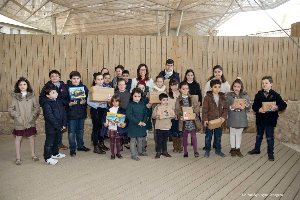 Entrega de premios de los Clicks de Playmobil en el Foro Romano