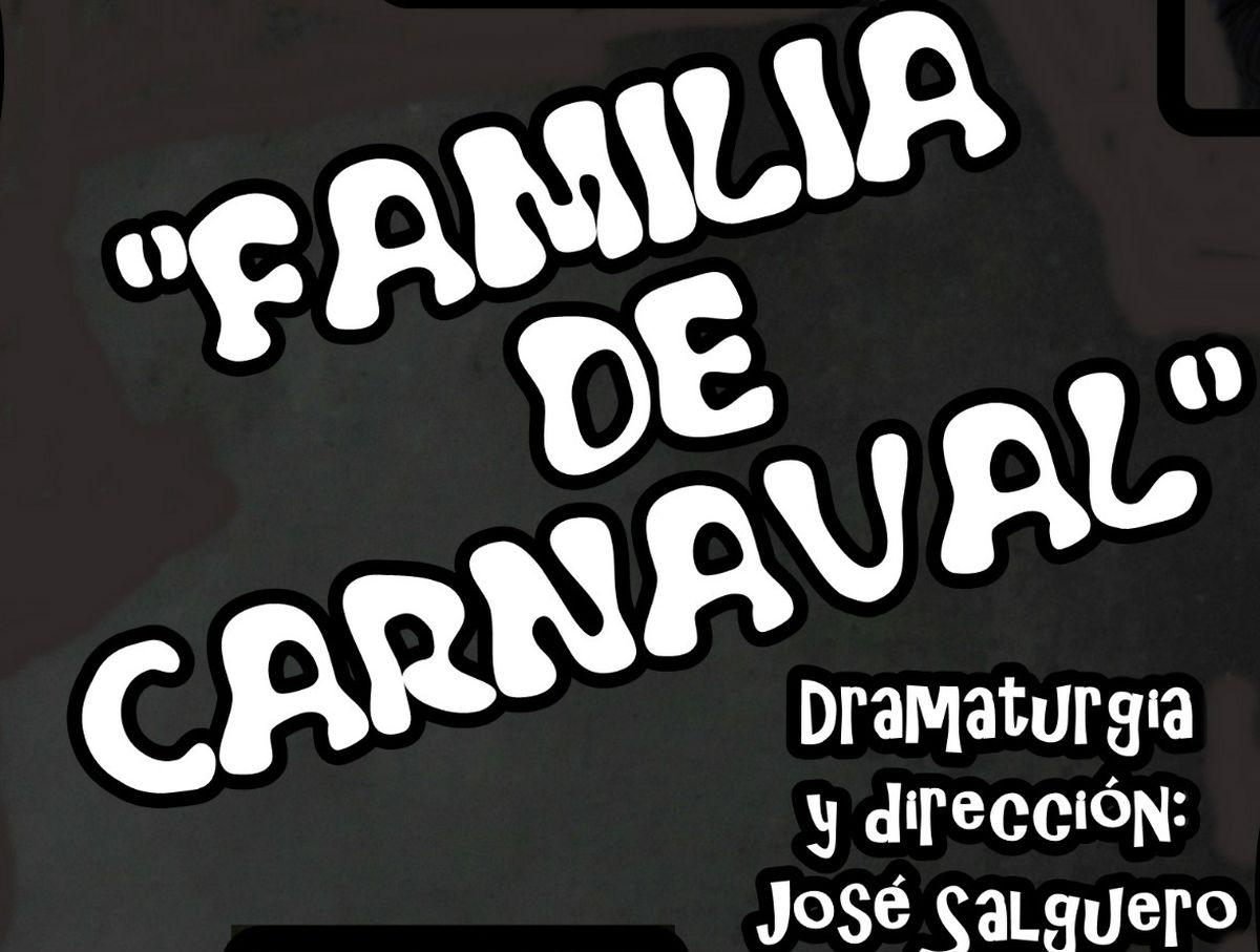 Cartel de la obra 'Familia de Carnaval'