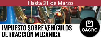 Impuesto sobre vehículos de tracción mecánica. Hasta el 31 de marzo
