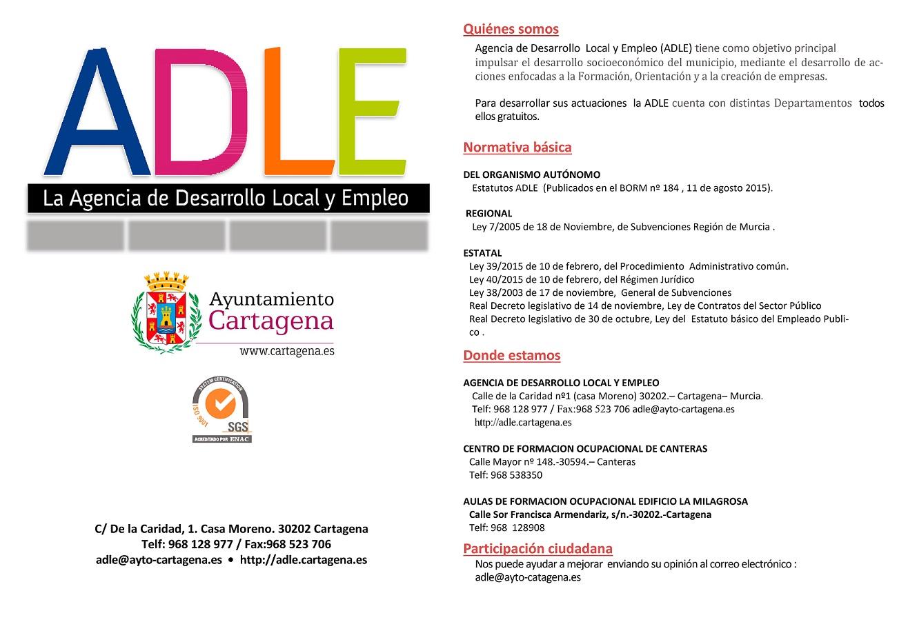 Carta de Servicios ADLE. Documento PDF - 871,91 KB. Se abre en ventana nueva