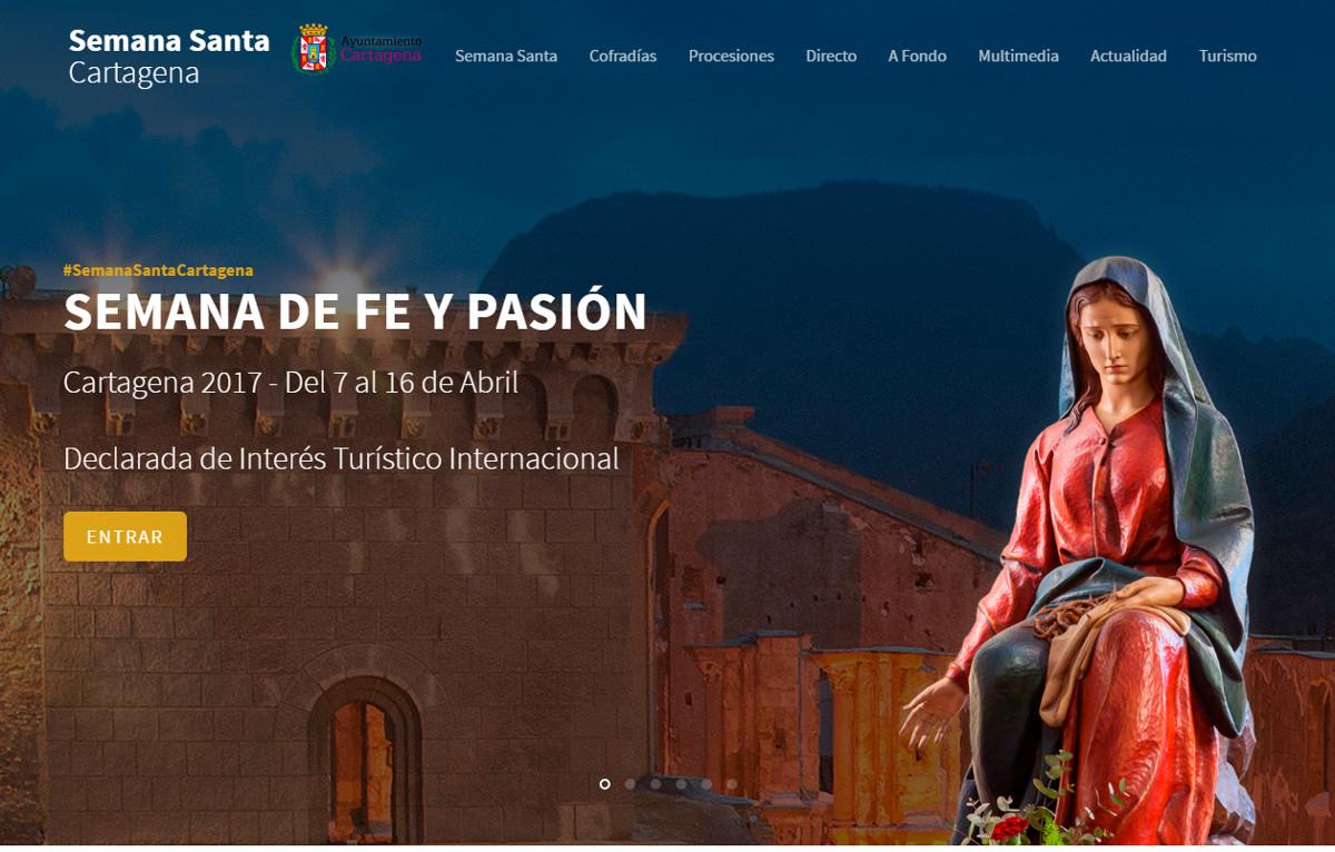 Web de la Semana Santa de Cartagena