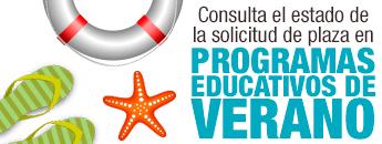 Consulta estado solictud de plaza Programas Educativos de Verano