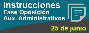 Instrucciones Fase Oposición  Aux. Administrativos. Documento PDF - 948,74 KB. Se abre en ventana nueva