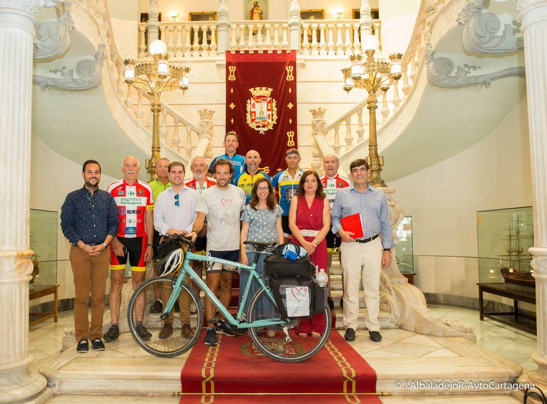 Marco Magnani llega a Cartagena en la cuarta etapa del reto solidario 2000K