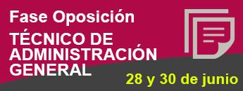 Fase Oposición Técnico Administración General. 28 junio 2017