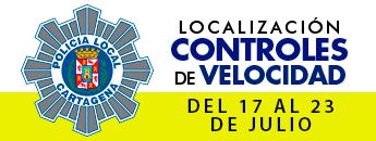 Controles de Velocidad. Del 17 al 23 de julio de 2017