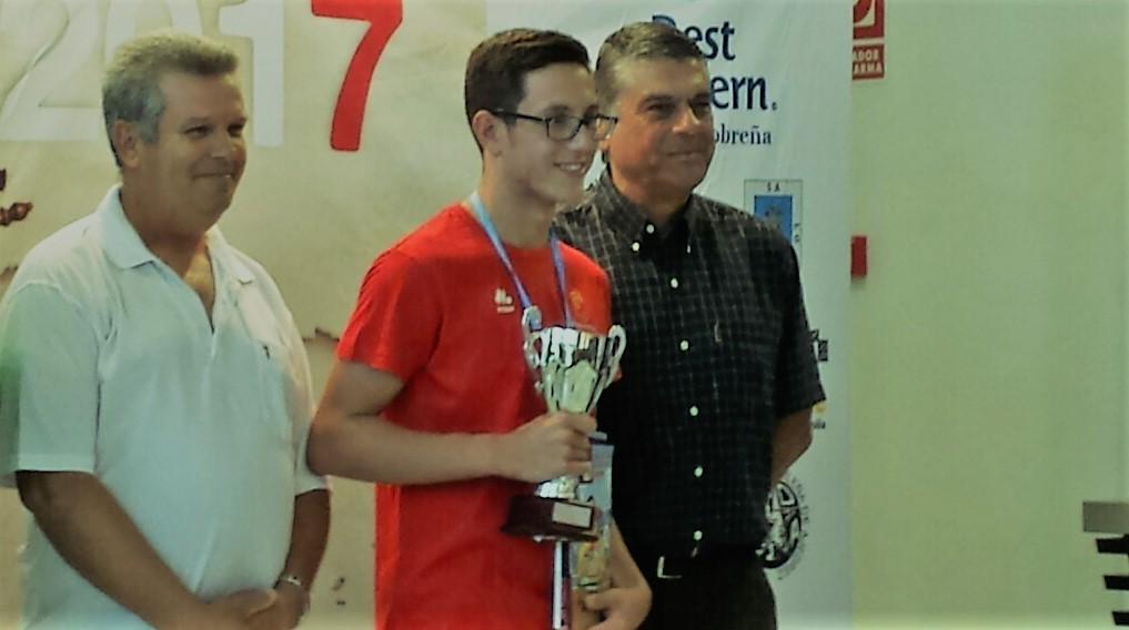 Aarón Alonso García, ajedrecista cartagenero, tercero en el Campeonato de España de Ajedrez Sub14