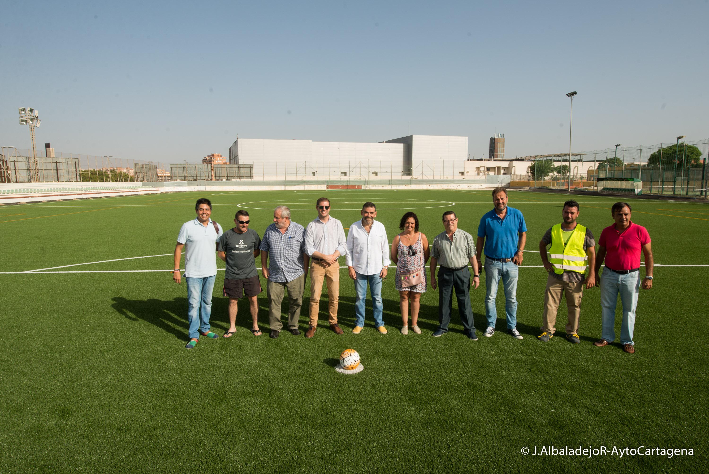 Visita a los campos de fútbol de Virgen de la Caridad y José María de Lapuerta