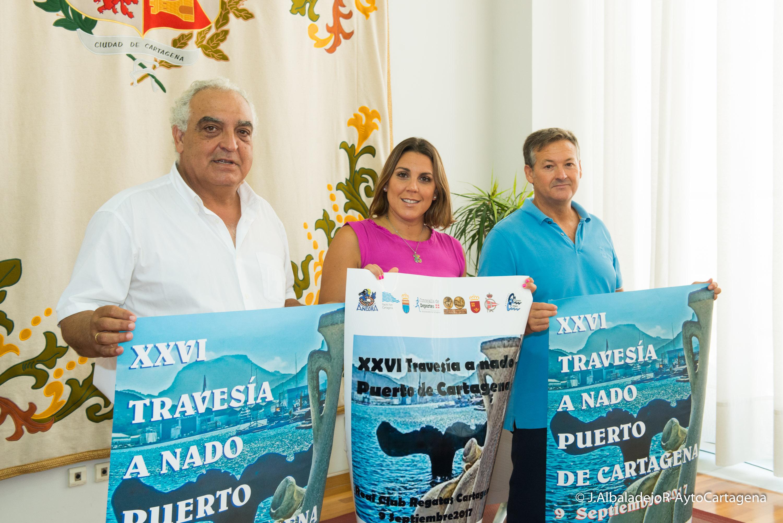 Cartel de la Travesía a nado Puerto de Cartagena