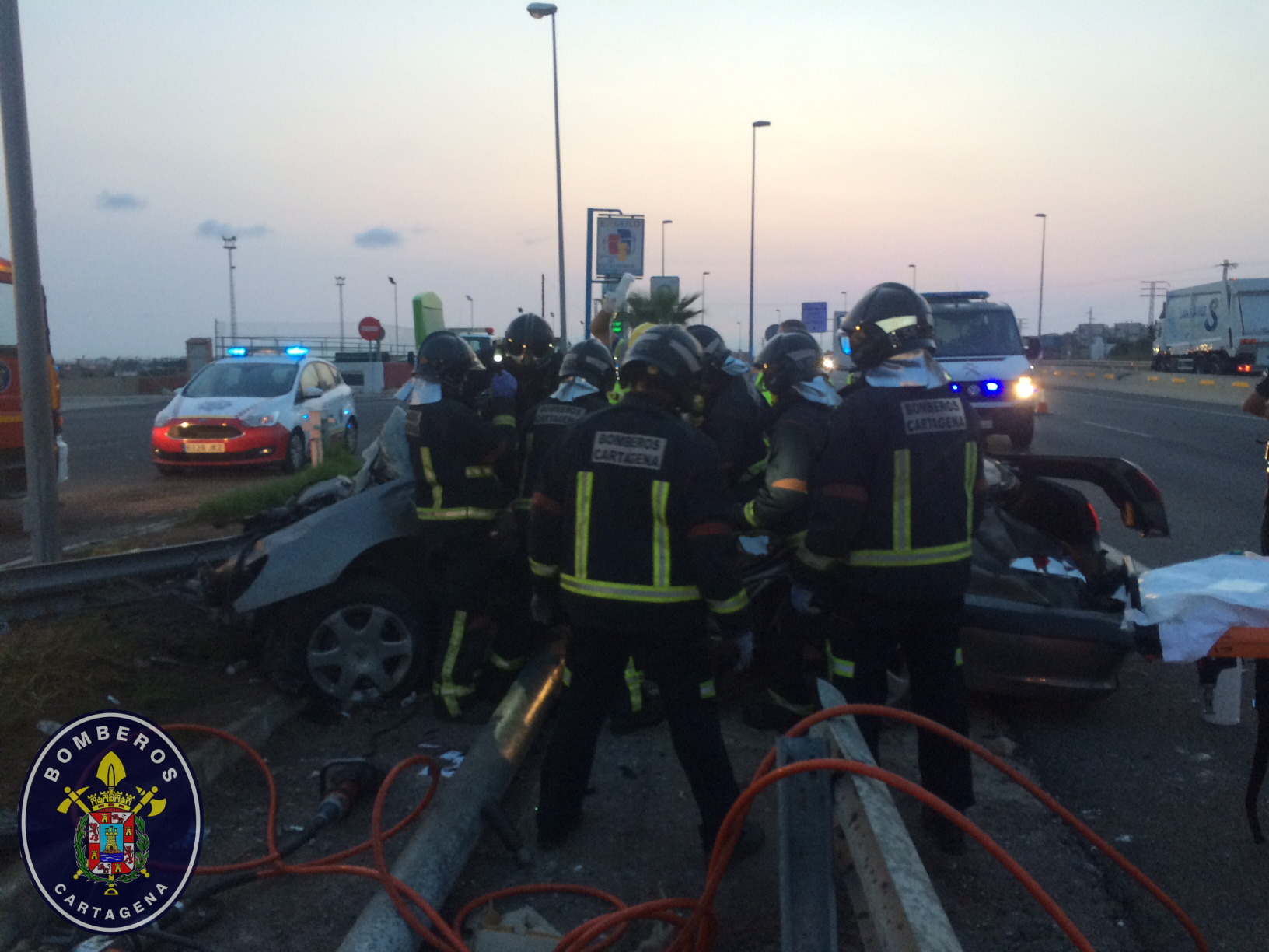 Accidente en la RM-12 de La Manga