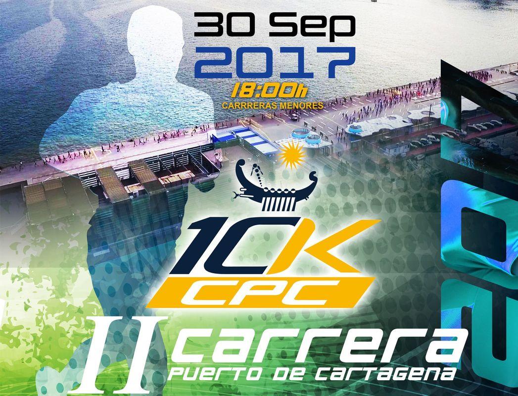 Cartel de la II edición de la Carrera 10K Puerto de Cartagena