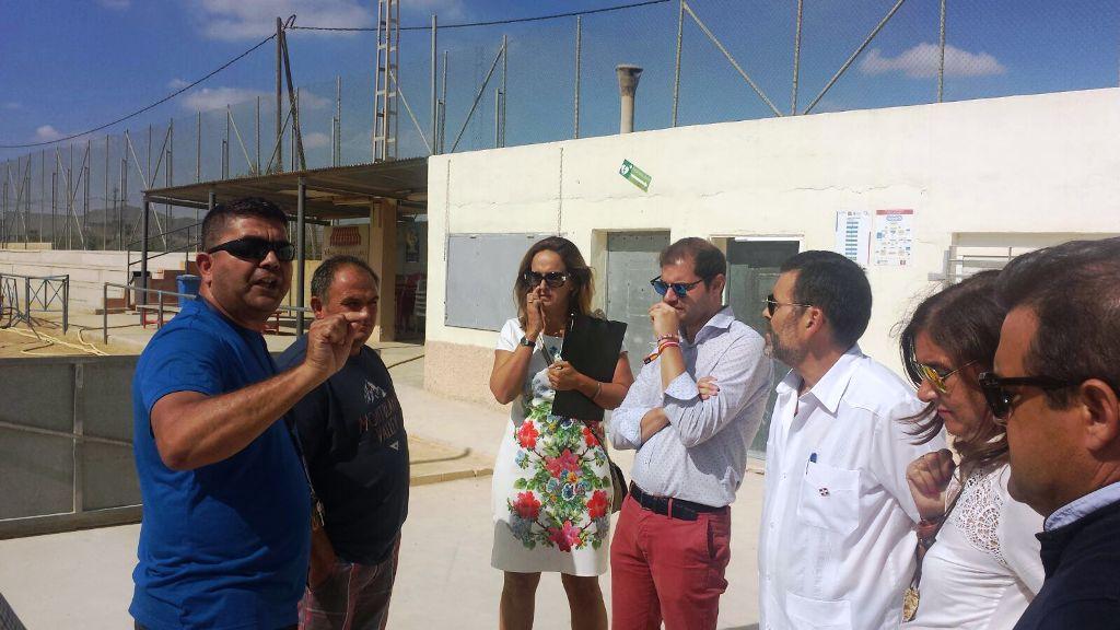 Visita al campo de futbol de La Aljorra