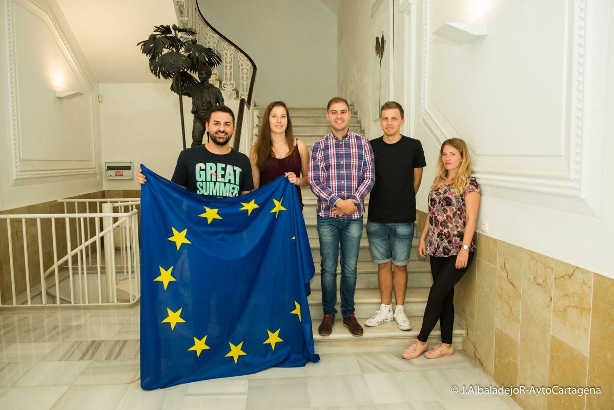 El Servicio de Voluntariado Europeo de Juventud acoge a cuatro nuevos estudiantes Erasmus +