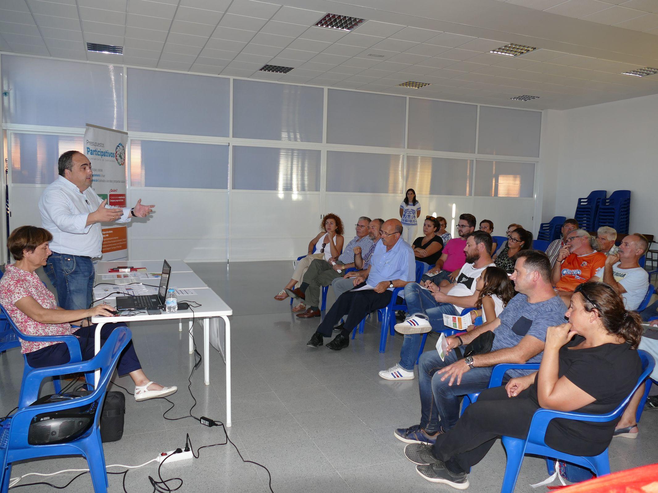 Presentación de los Presupuestos Participativos en las OMITAS