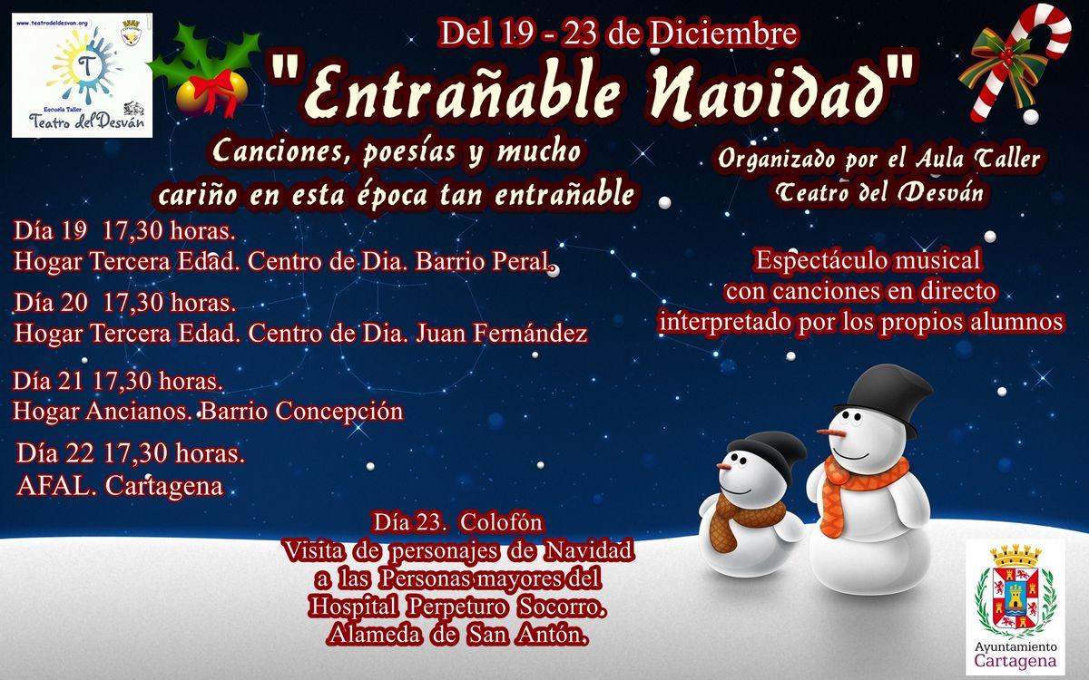 Cartel Una Entrañable Navidad
