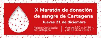 X Maratón de donación de sangre de Cartagena