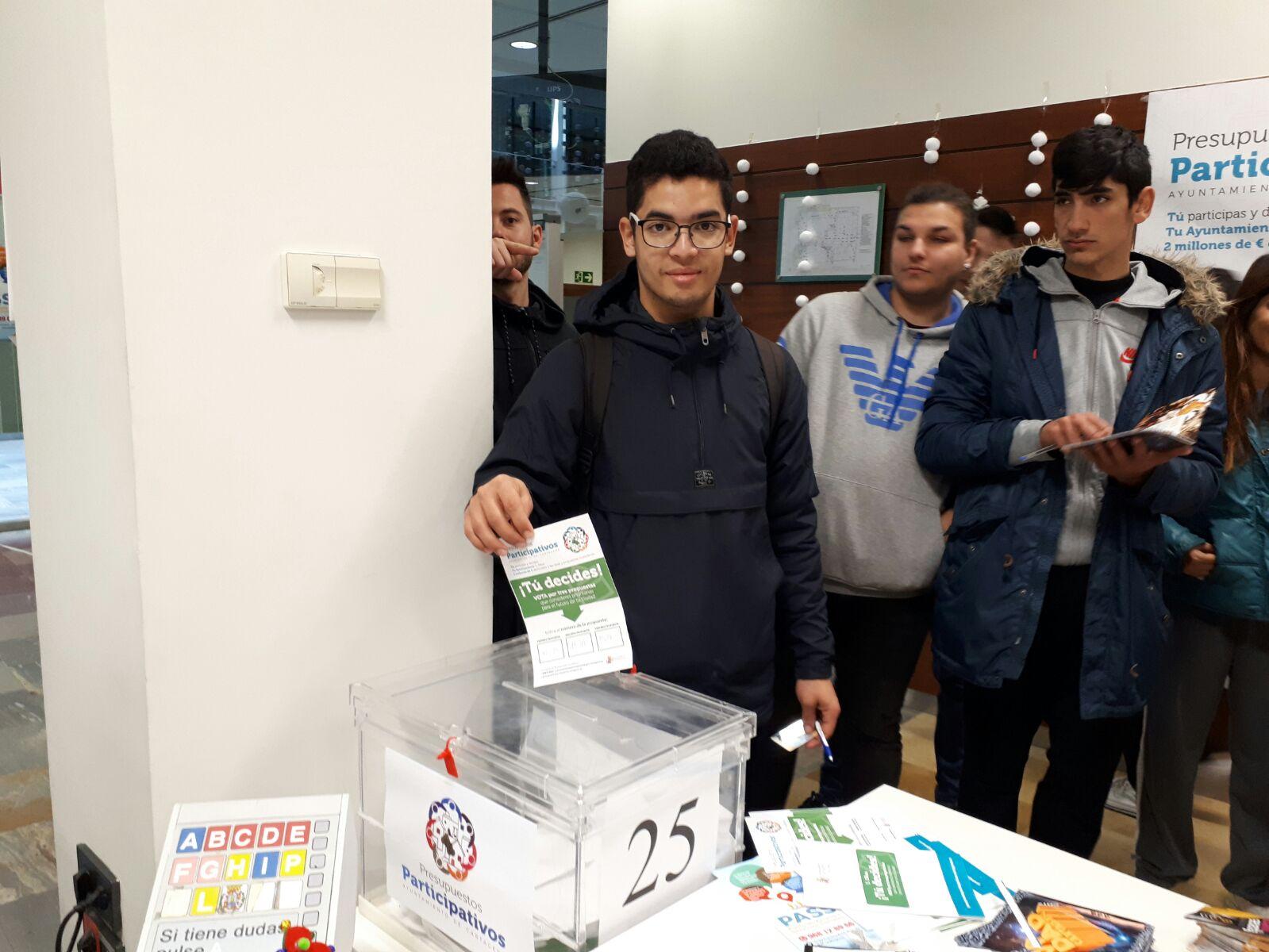 Votaciones a los presupuestos participativos de alumnos del ISEN