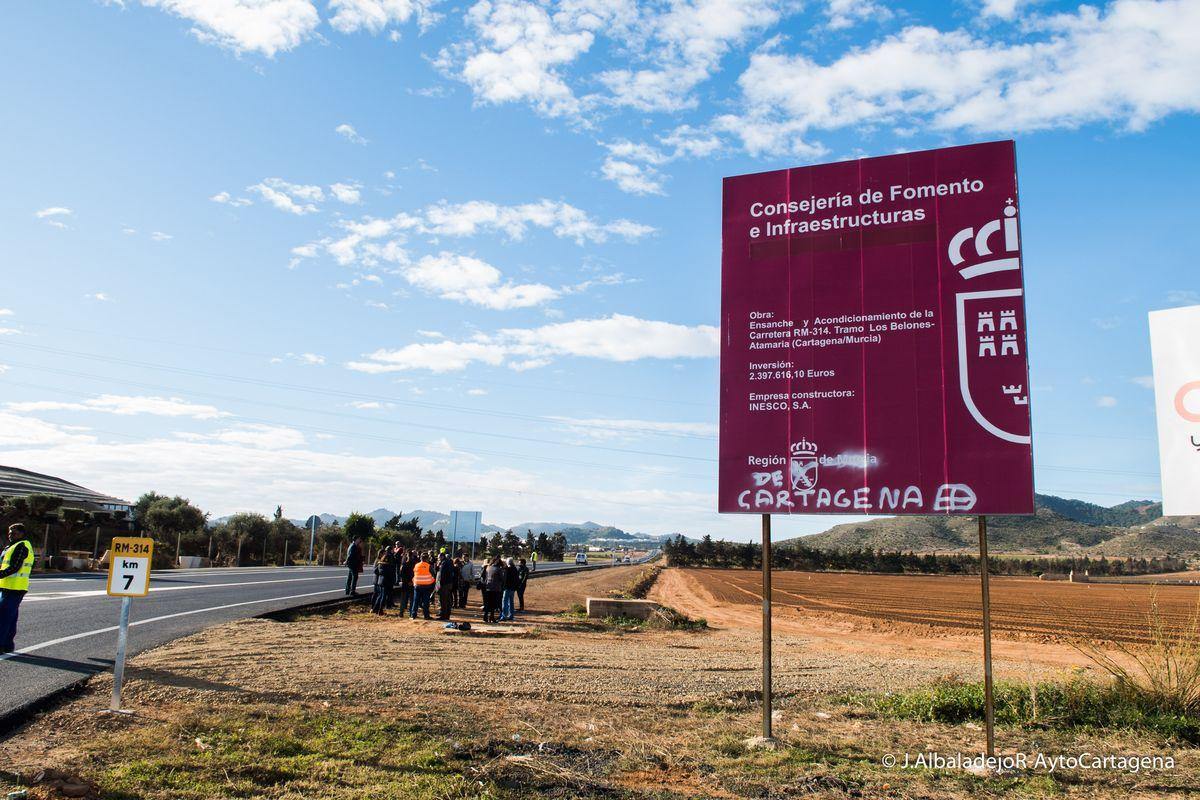 Inaugurada la carretera rm 314 que une los belones con - El tiempo en la gineta albacete ...