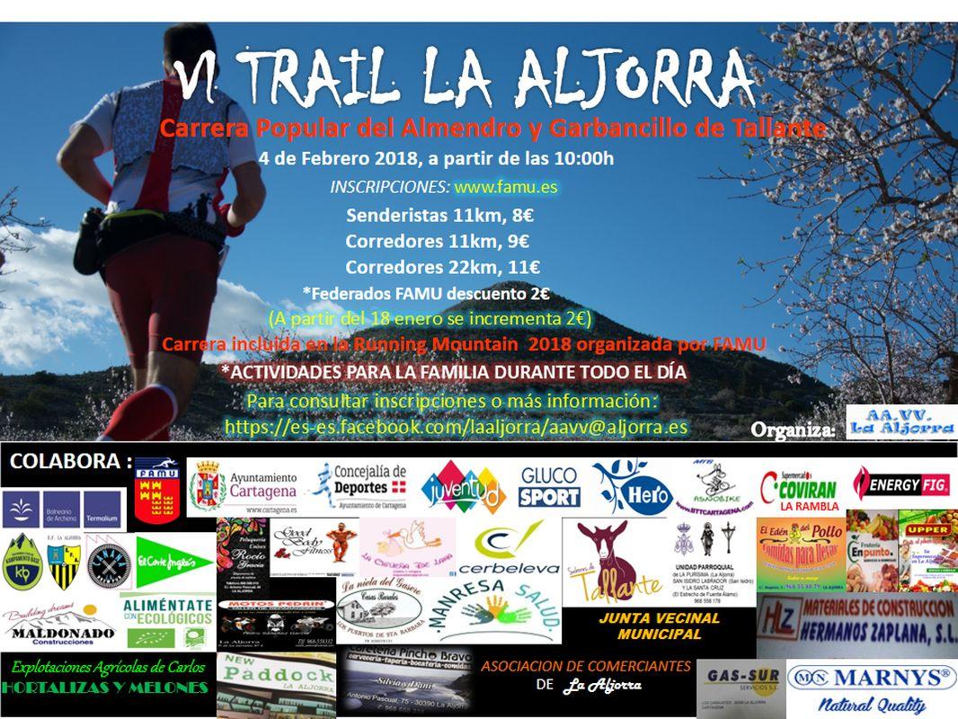 Cartel VI trail de La Aljorra
