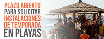 Plazo de presentación de las instancias para la Renovación de Autorizaciónes para la Instalaciones de Temporada en Playas