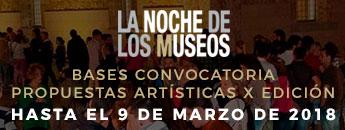 Convocatoria de propuestas artísticas para la X Edición de Noche de los Museos en Cartagena el 19 de Mayo de 2018