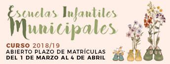Información Escuelas Infantiles. Abierto Plazo de solicitud de plazas 2018-2019