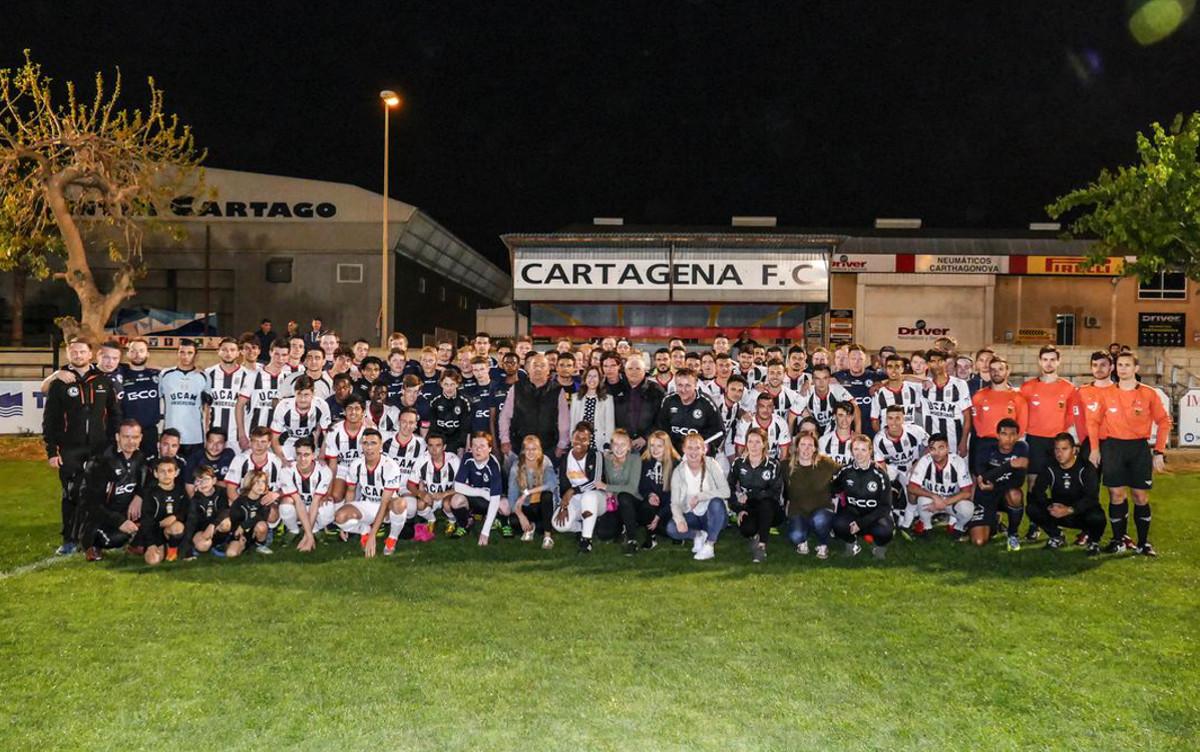 Futbolistas noruegos durante su estancia en Cartagena en 2017