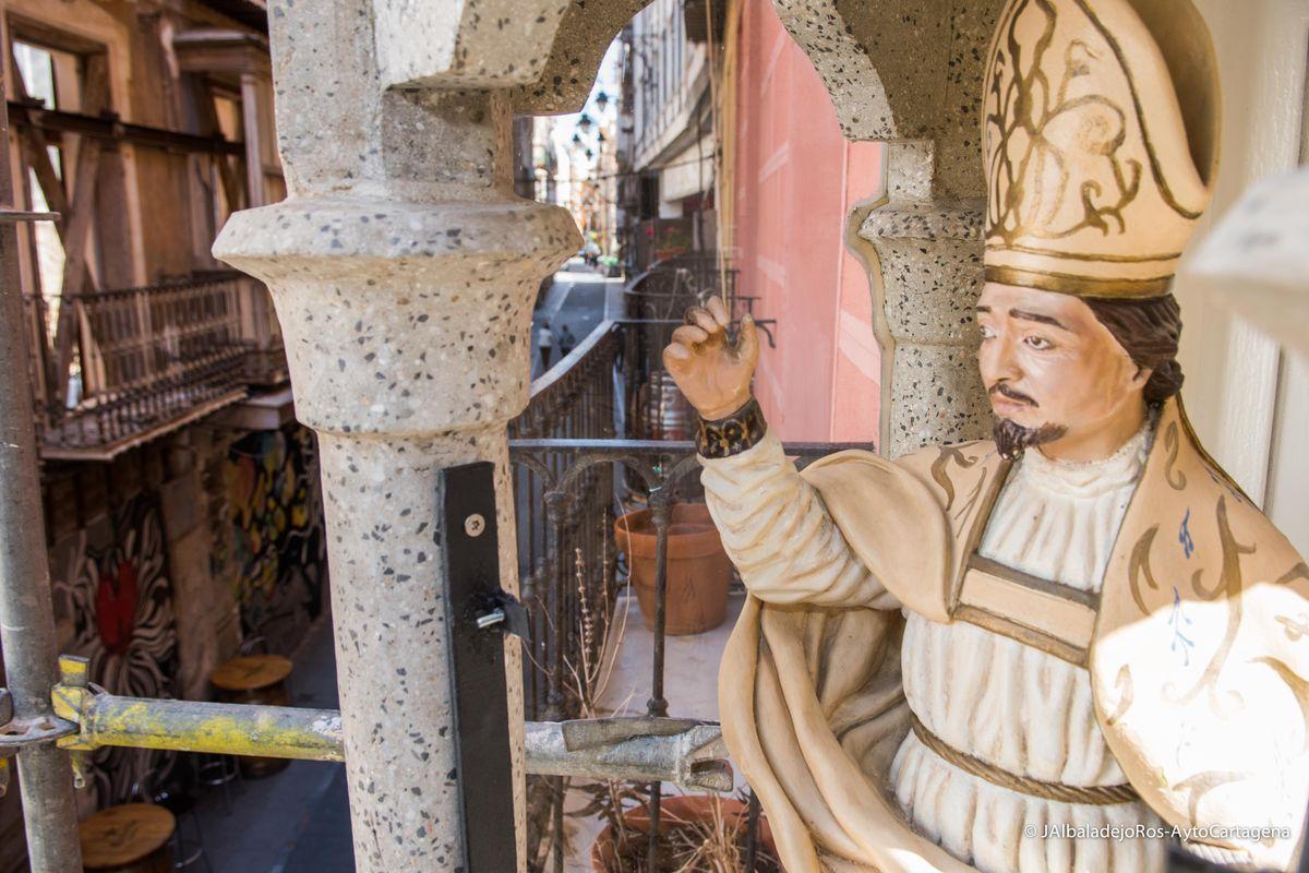 Hornacinas restauradas de los Cuatro Santos cartageneros