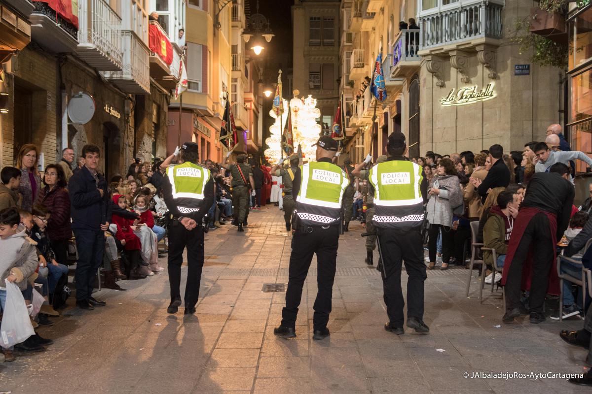 La Policía Local durante una procesión