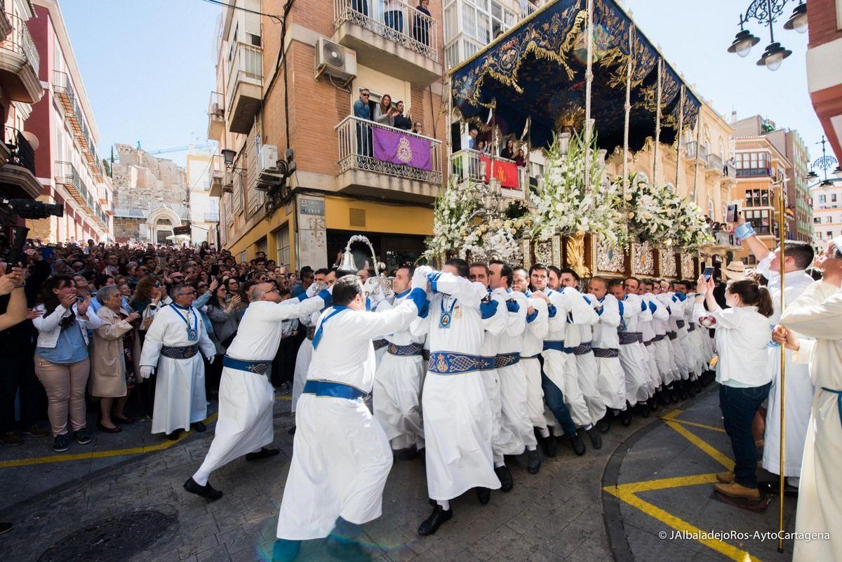 Procesión del Domingo de Resurreción en Cartagena