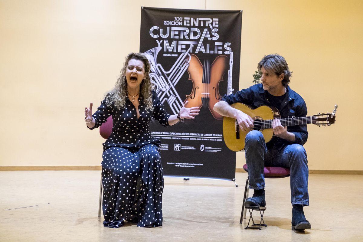 Finalistas de la modalidad de Cante Flamenco de Entre Cuerdas y Metales