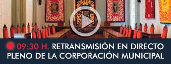 Retransmisión en directo Pleno de la Coporación Municipal 09:30h.