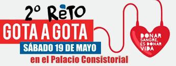 Segundo Reto Gota a Gota en Cartagena. Sábado 19 de Mayo. Palacio Consistorial