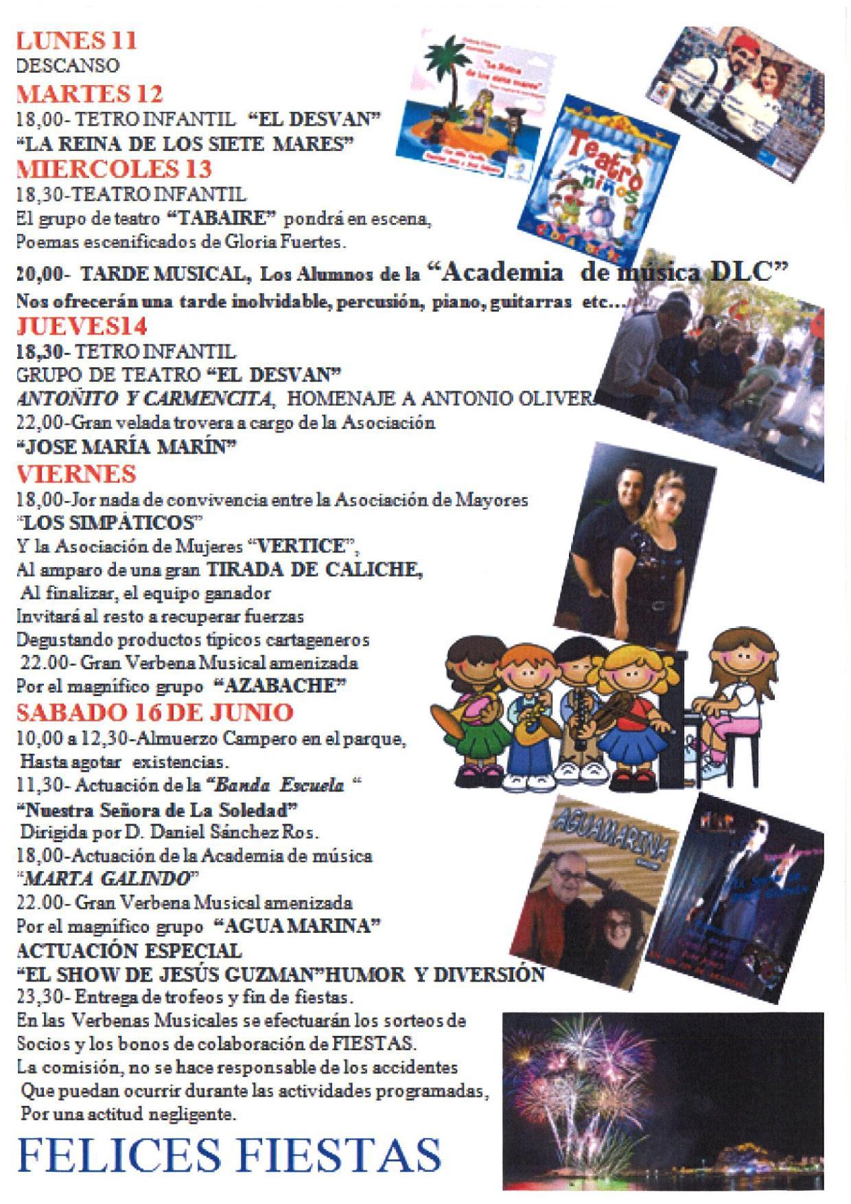 Fiestas de Primavera del barrio San José Obrero 2018 en Cartagena