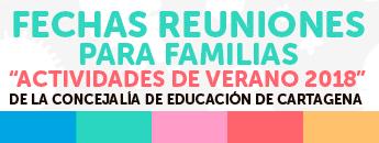 FECHAS REUNIONES PARA FAMILIAS ACTIVIDADES DE VERANO 2018. Documento PDF - 122,35 KB. Se abre en ventana nueva