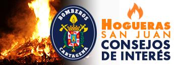 Bomberos Cartagena. Consejos de Interés Hogueras de San Juan