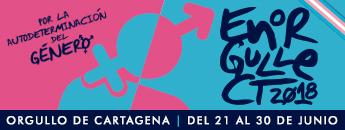 EnOrgulleCT 2018. Orgullo de Cartagena. Del 21 al 30 de junio de 2018