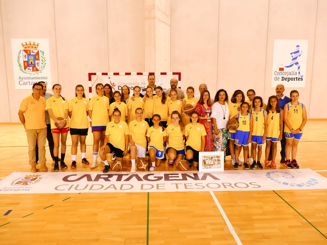 Ascenso a Primera División del Club Femenino Baloncesto Cartagena