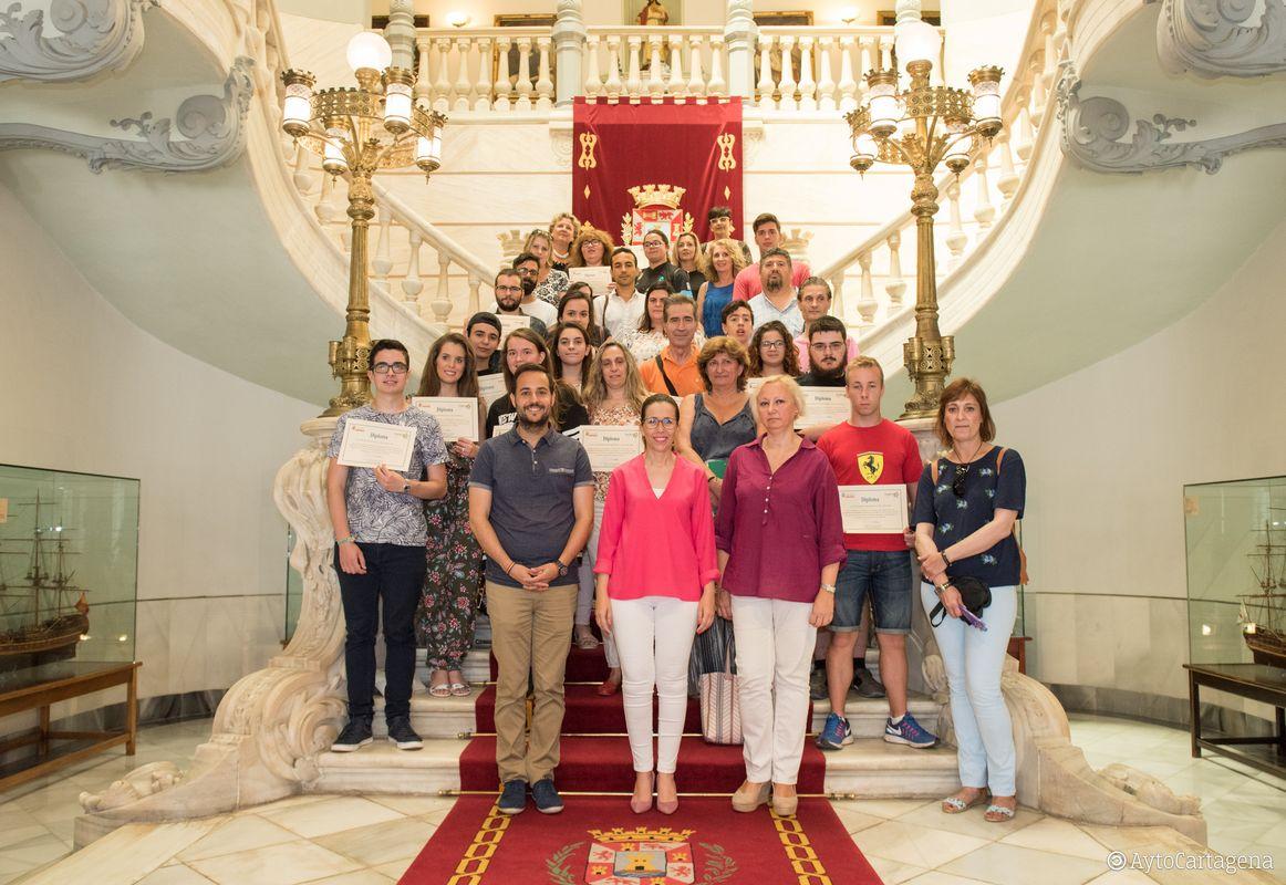 Galería entrega de diplomas voluntarios X edición La Noche de los Museos