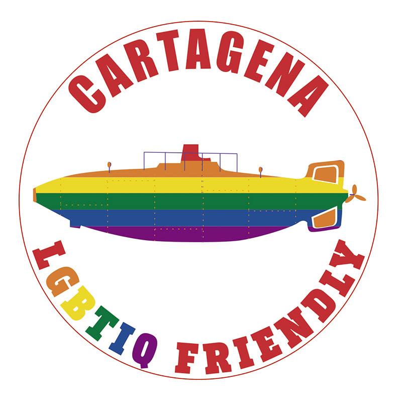 Distintivo para las empresas que se adhieran a la iniciativa Cartagena ciudad 'LGTBI Friendly'