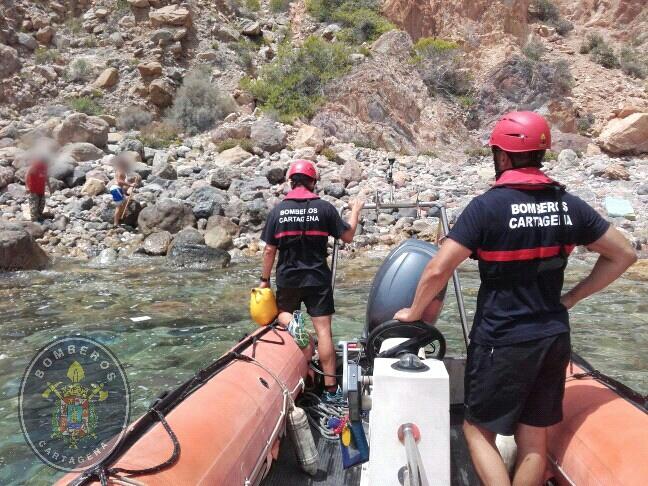 Imagen de archivo de un rescate de Bomberos Cartagena