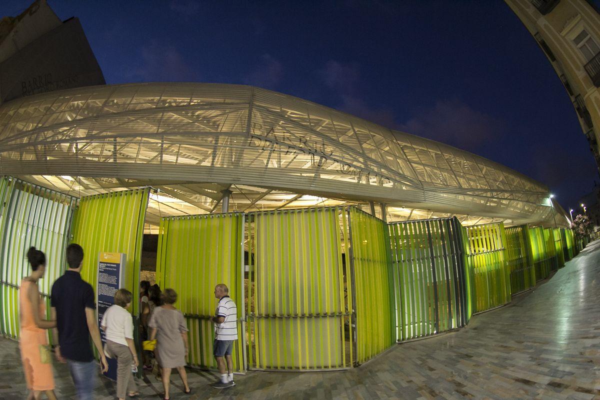 Barrio del Foro por la noche - Visitas nocturnas de Puerto de Culturas