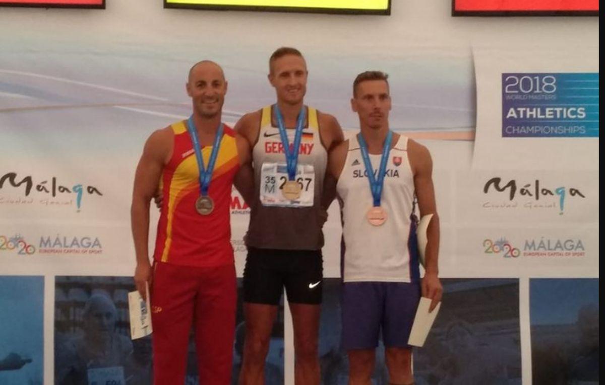 David Céspedes en el Campeonato del Mundo de Atletismo Máster