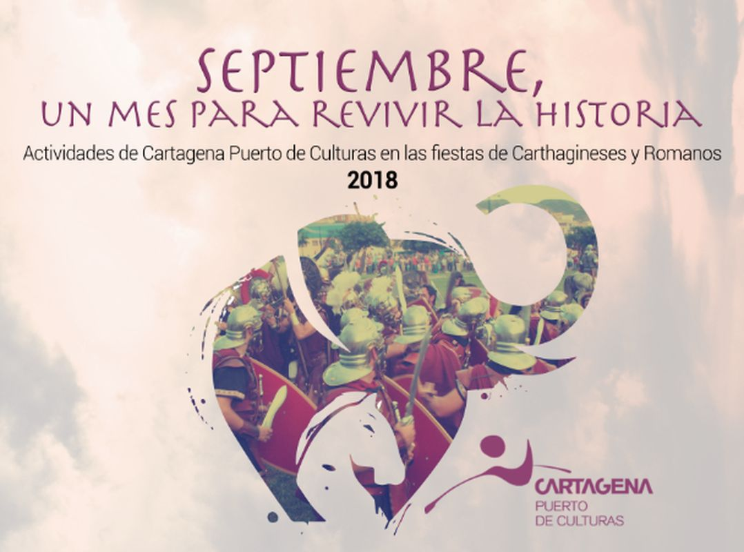 Cartel actividades Cathagineses y Romanos Cartagena Puerto de Culturas