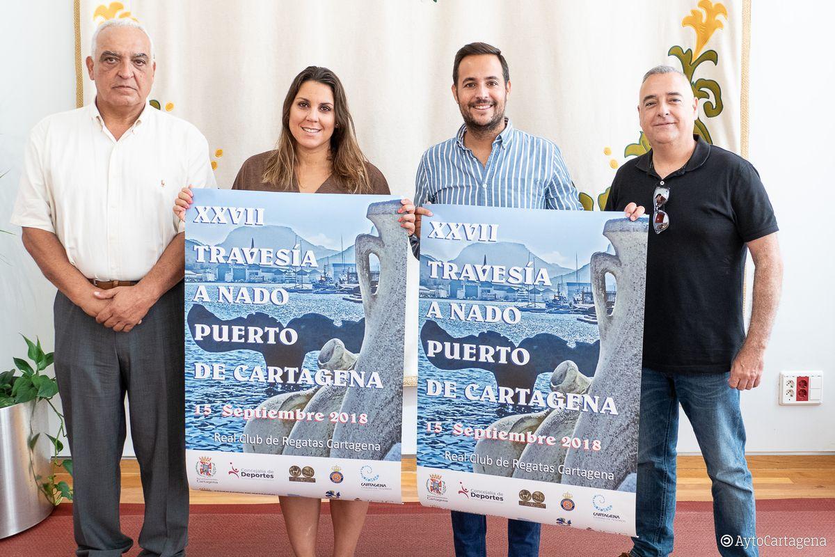 Presentación de la XXXVII Travesía a nado Puerto de Cartagena