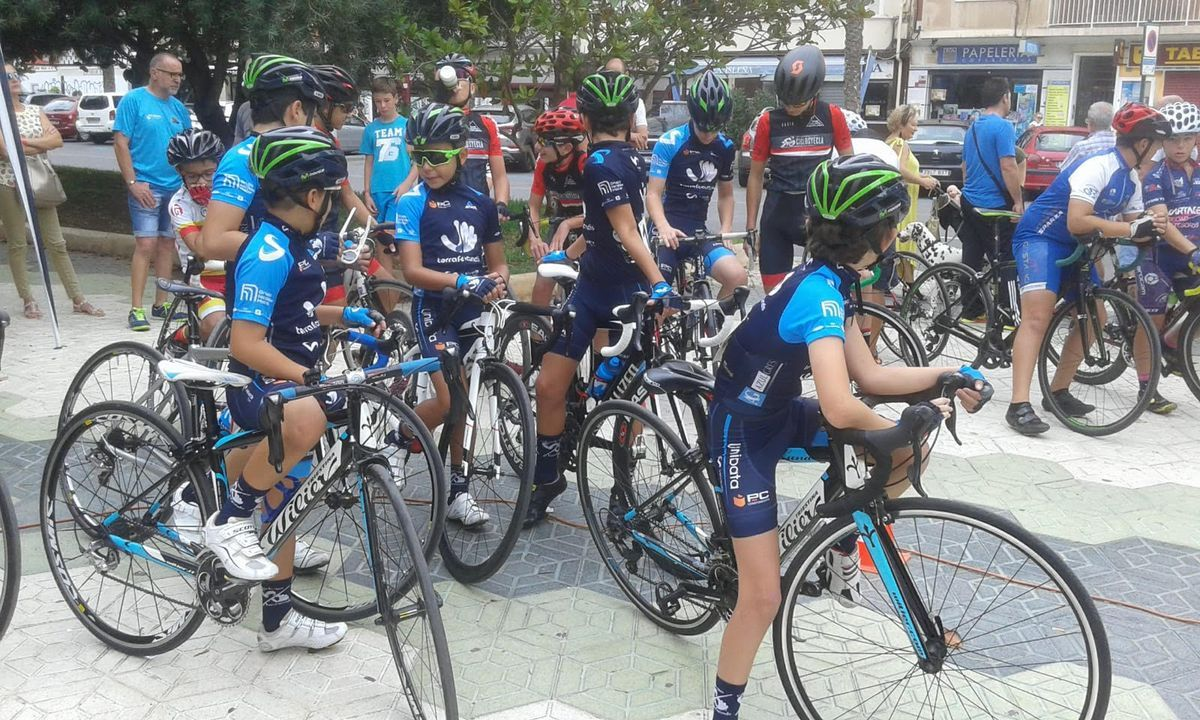 Exhibición de escuelas de ciclismo de Murcia