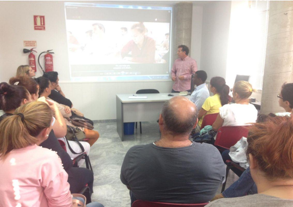 Visita alumnos de Rascasa a las dependencias de la ADLE