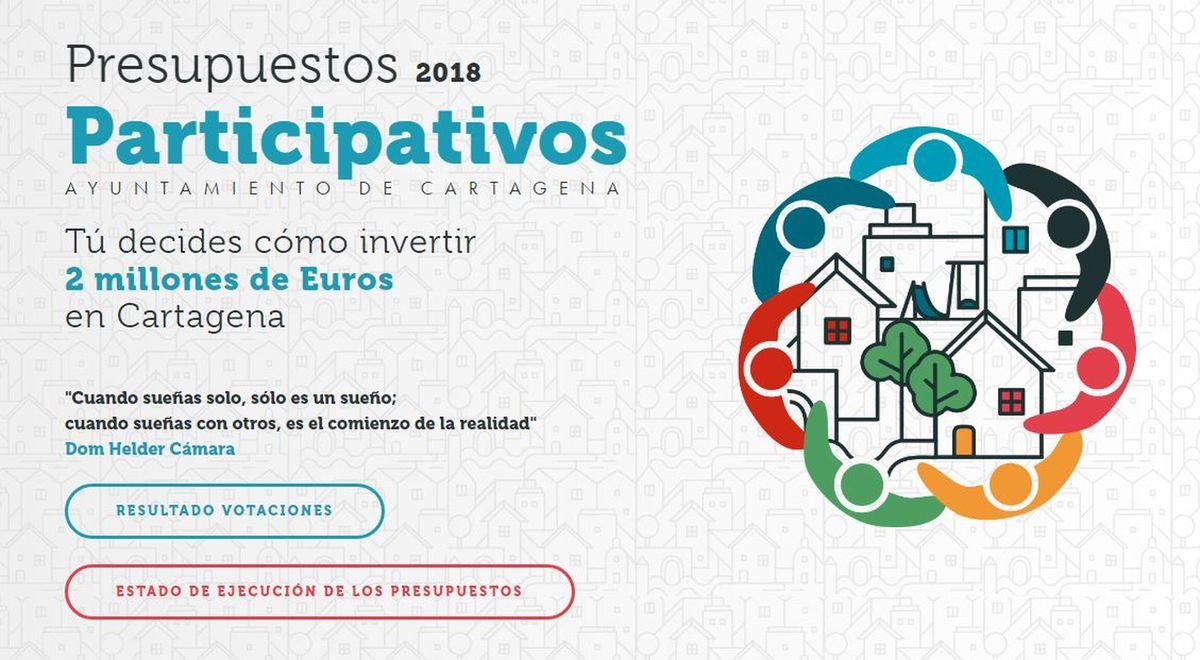 Logo Presupuestos participativos 2018
